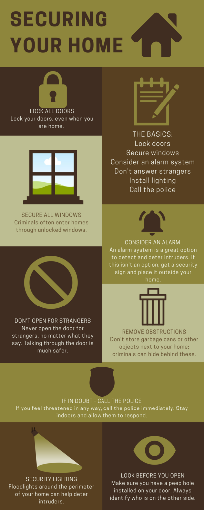 Secure Your Home Infographic